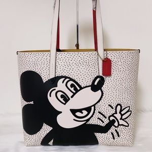 New💃Coach Disney Mickey Mouse X Keith Haring Tote